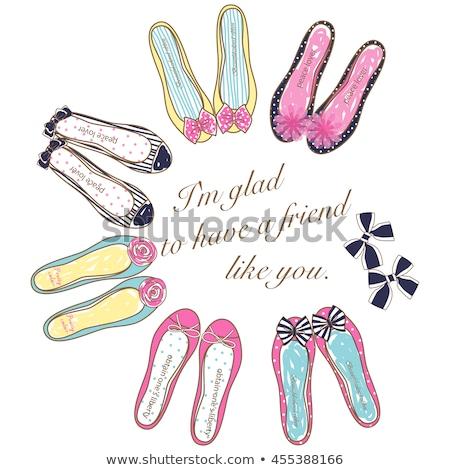 illustration of the shoe sweets stock photo © olena