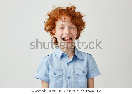 Boy making a face Stock photo © IS2