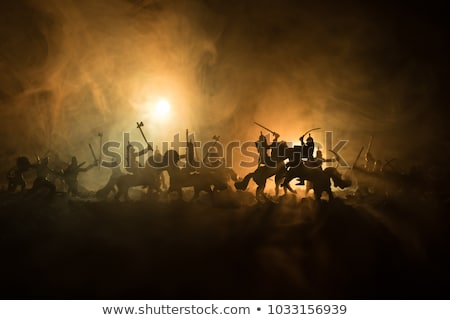 Knight with sword and old castle Stock photo © jossdiim