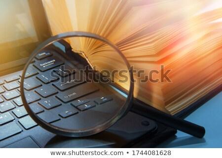 Stockfoto: Blauw · geschreven · sleutel · metalen
