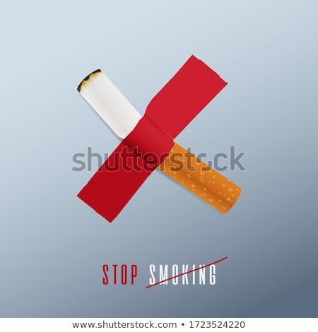 баннер день вредный привычка курение Сток-фото © Olena