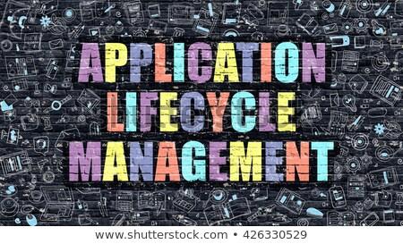 Multicolor Application Lifecycle Management on Dark Brickwall.  Stock photo © tashatuvango