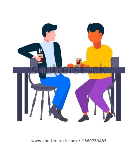 два студентов сидят таблице образование портрет Сток-фото © IS2