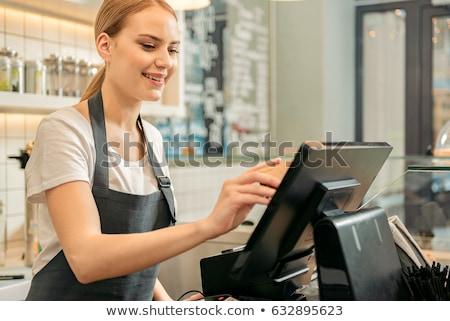 Jeunes Homme magasin assistant travail portrait Photo stock © IS2