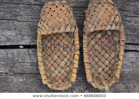 The wicker shoes of the rural population of Russia Stock photo © Valeriy