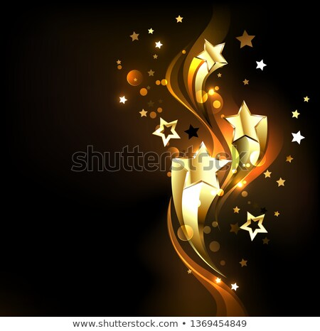 Three soaring gold stars Stock photo © blackmoon979