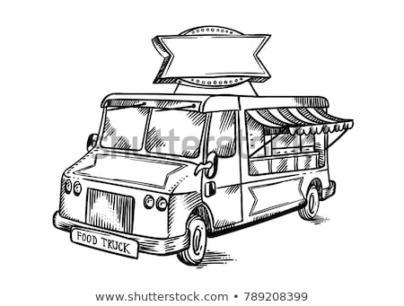 tacos car food truck. Fast food car. Vector illustration Stock photo © MaryValery
