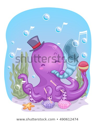 Octopus Conch Shell Music Stock photo © lenm