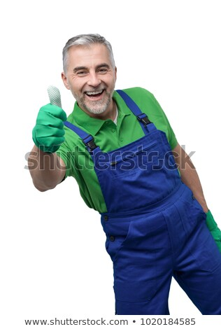 Happy professional gardener giving a thumbs up Stock photo © stokkete