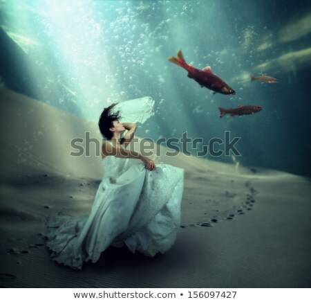 A woman dancing underwater Stock photo © IS2