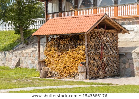 Firewoods under canopy Stock photo © Givaga