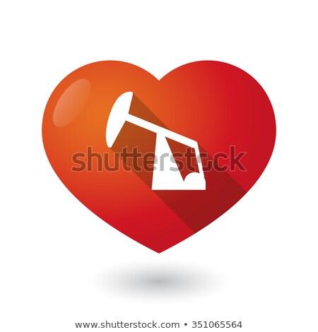 symbol heart of oil pumps i love oil vector illustration stock photo © popaukropa