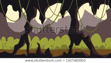 Yeraltı karanlık mağara şablon örnek Stok fotoğraf © bluering