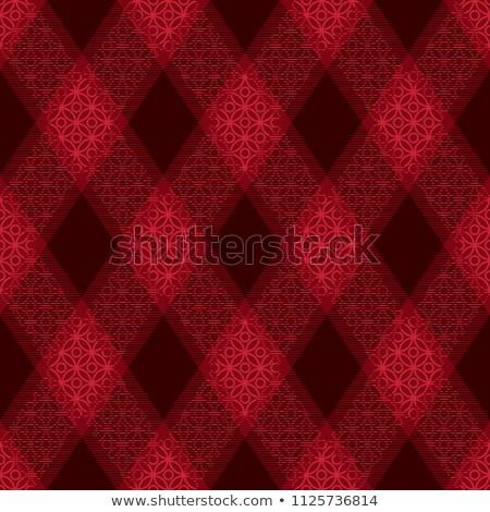 Decorative diagonal tartan inspired vector seamless pattern background 4 Stock photo © sanjanovakovic