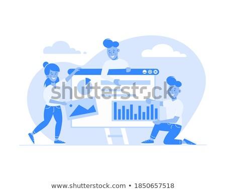 promoteur · programmation · demande · icônes · vecteur - photo stock © robuart