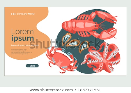 Fish and Marine Creatures as Seafood Poster Stock photo © robuart