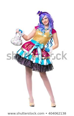 Nice женщину красочный платье синий Сток-фото © acidgrey