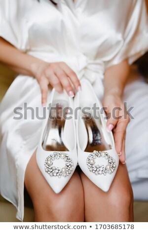 Güzel eller kız dantel düğün moda Stok fotoğraf © ruslanshramko
