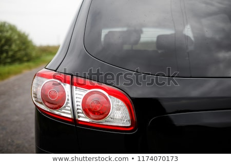 prima · suv · faros · negro · reflexión · coche - foto stock © ruslanshramko
