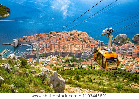 historic city of dubrovnik aerial panoramic view stock photo © xbrchx