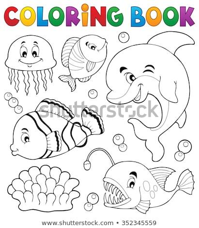 állat skicc meduza illusztráció háttér testmozgás Stock fotó © colematt