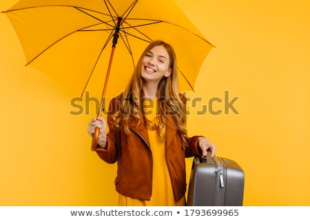 szépség · utazás · lány · poggyász · repülőtér · tengerpart - stock fotó © rogistok