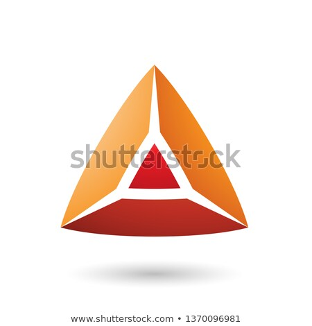 Red and Orange 3d Pyramidical Embossed Shape Vector Illustration Stock photo © cidepix