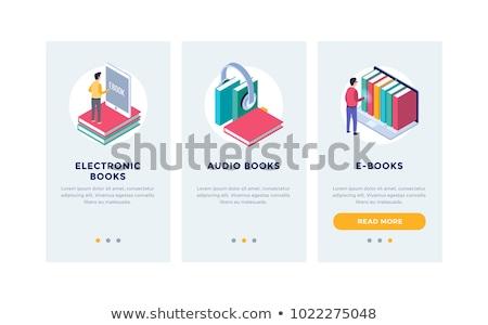 Ebook aplicativo interface modelo usuário leitura Foto stock © RAStudio