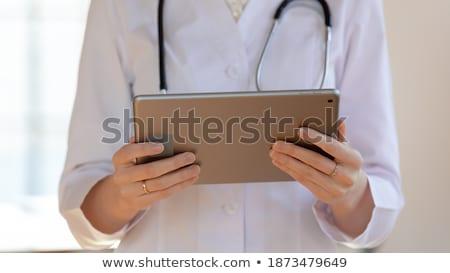 Sağlık akıllı kart afiş doktor Stok fotoğraf © RAStudio