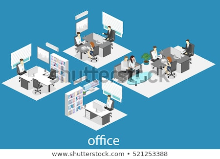vector · boekenplank · kantoor · ontwerp · achtergrond · onderwijs - stockfoto © tele52
