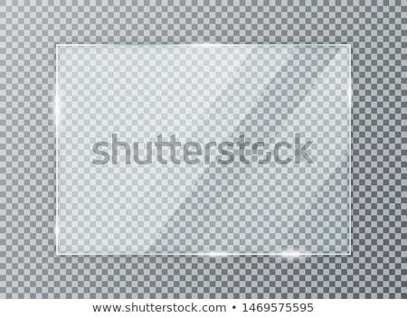 Glass frame. Realistic clear glass on transparent background. Isolated vector glass. stock photo © AisberG