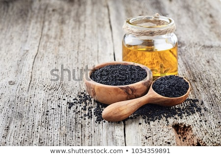 Photo stock: Noir · cumin · semences · nature · usine