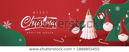 christmas wallpaper with xmas tree stock photo © adamson