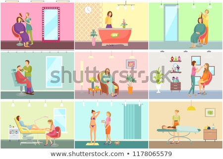 Spa salon receptionist barbier winkel vector Stockfoto © robuart