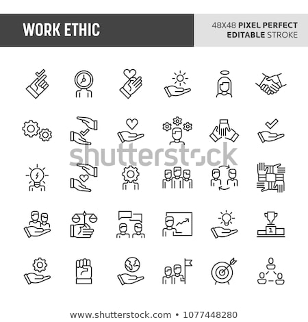 Work Ethic Vector Icon Set Stock photo © Fred
