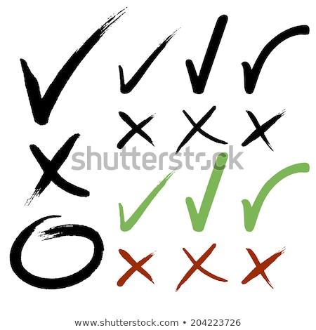 csekk · lista · gomb · ikon · osztályzat · felirat - stock fotó © romvo