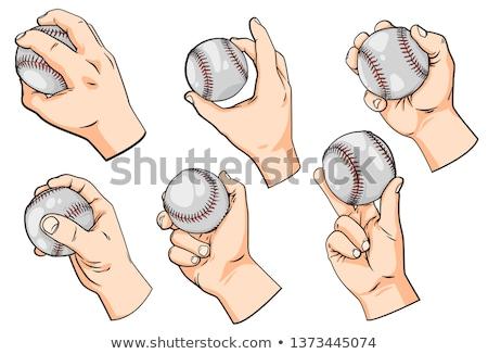 Baseball Ball Hand Tearing Background Stock photo © Krisdog