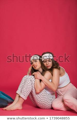 retrato · dois · triste · meninas · mulher · jovem · melhor · amigo - foto stock © deandrobot