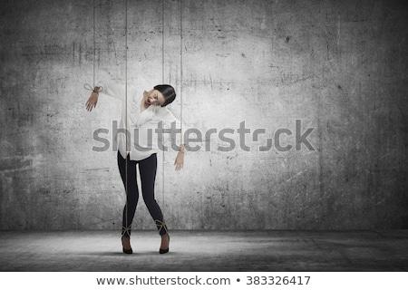 seducción · foto · grave · hombre · sesión · sofá - foto stock © konradbak