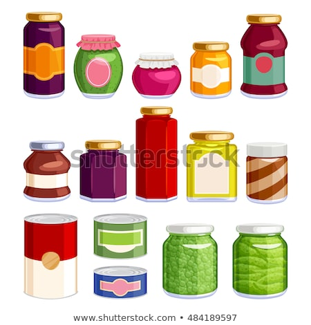 Preserved Food Pea in Jar Vector Illustration Stock photo © robuart