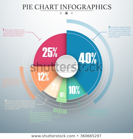 Stock fotó: 3D · kördiagram · grafikon · papír · renderelt · kép · statisztika