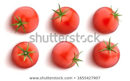 Jeden całość pomidorów odizolowany biały Zdjęcia stock © xamtiw
