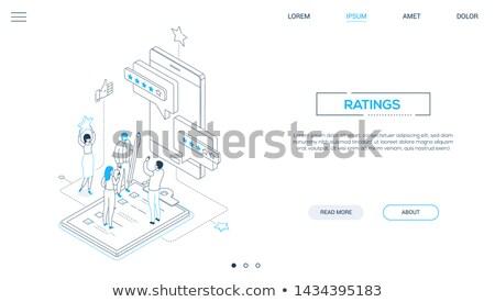 Company testimonials - line design style web banner Stock photo © Decorwithme