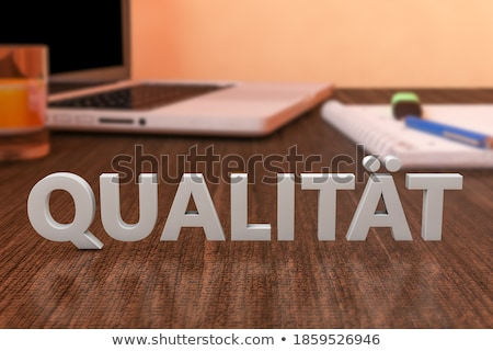 Palabra calidad texto azul digital Foto stock © Mazirama