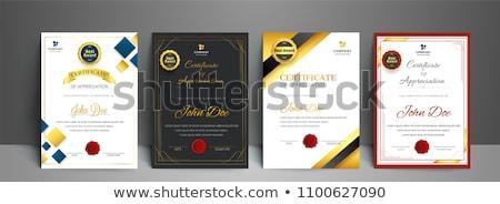 Certificato modello premio stile design Foto d'archivio © SArts