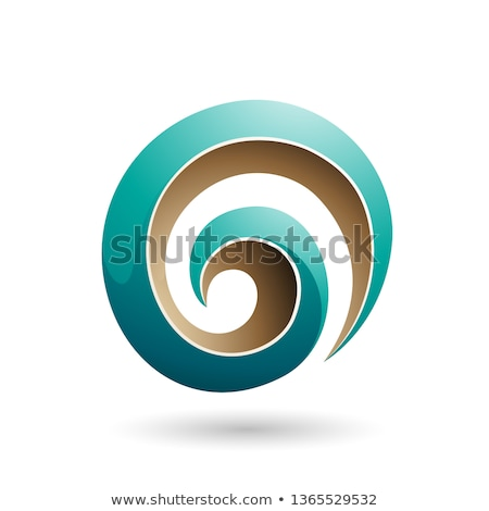 Persian Green 3d Glossy Swirl Shape Vector Illustration Stock photo © cidepix