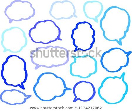 cor · linha · conjunto · nuvem · tipo - foto stock © Blue_daemon