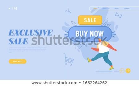shopping web page people shopaholic and line art stock photo © robuart