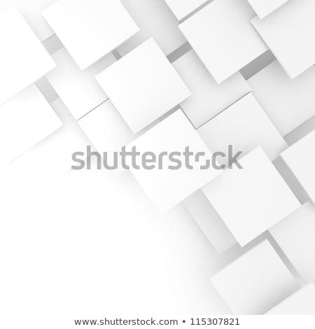 Nero piazze bianco costruzione sfondo finestra Foto d'archivio © designleo