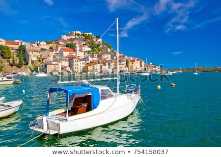 UNESCO town of Sibenik sailing destination coast view stock photo © xbrchx
